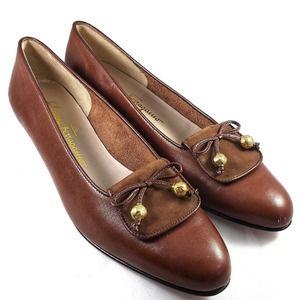 Salvatore Ferragamo Pointed Loafers Brown 7.5